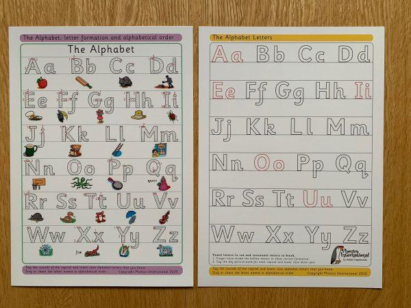 Alphabet Tabletop Chart